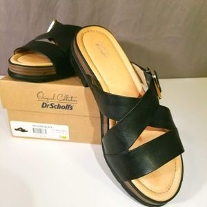 Dr. Scholls Slip On Hellena Leather Sandals